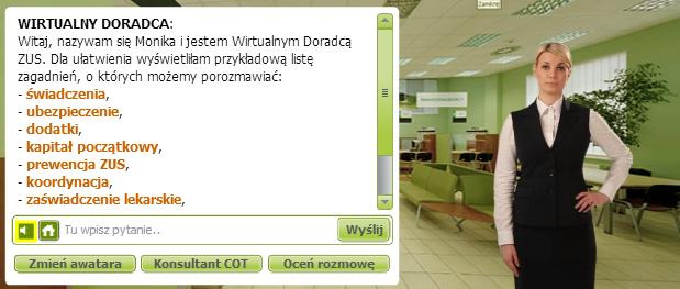 wirtualny doradca ZUS-u