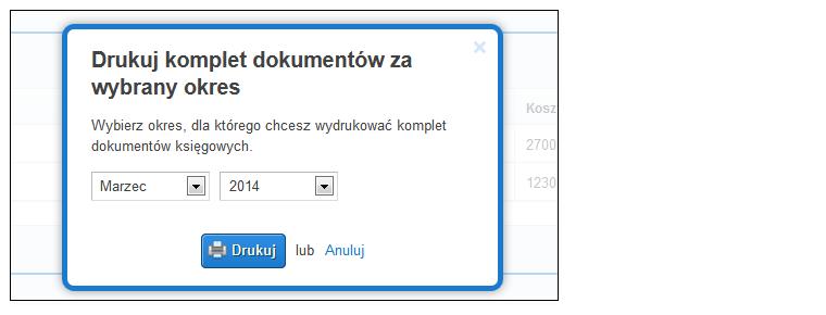 Drukuj komplet dokumentów - screen