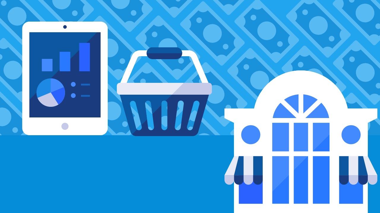 Zakupy sprzęt elektroniczny okno