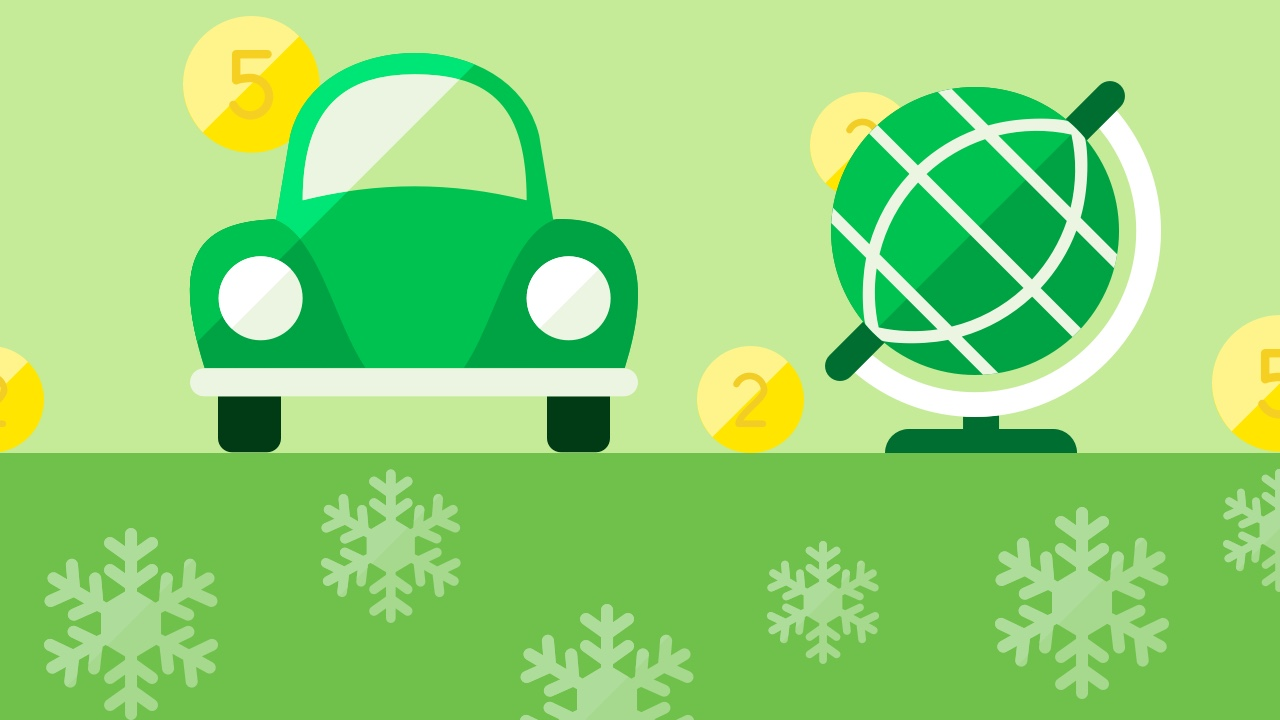 Auto i globus