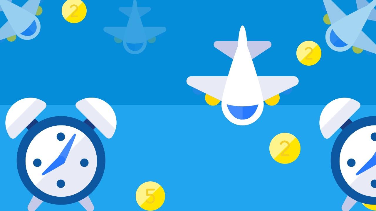 Dwie strefy czasowe i samolot