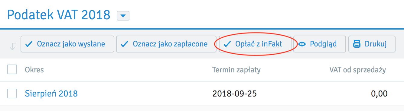 Opłać VAT z inFakt.pl