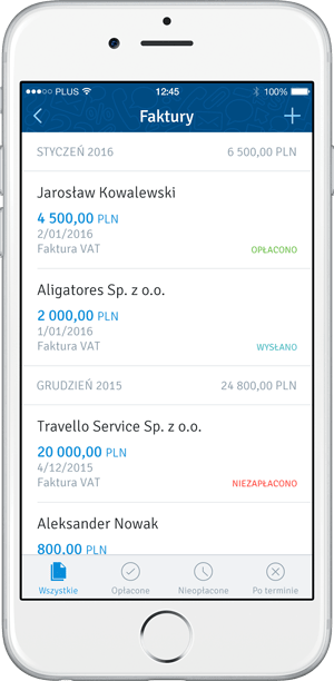 Income list mobile