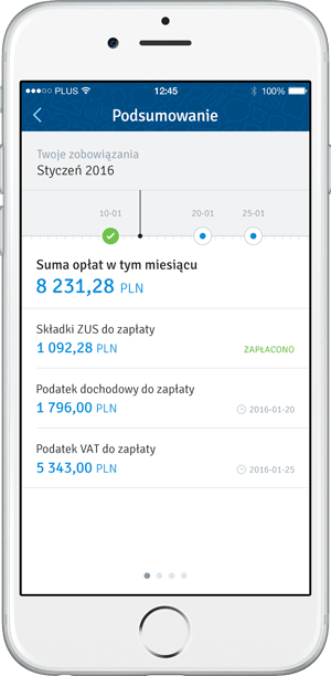 Taxes monitoring mobile